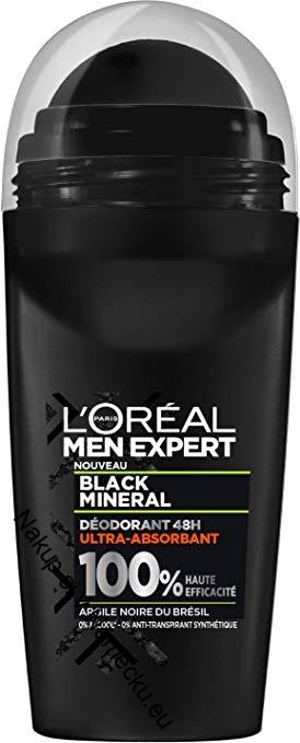 L'Oréal Paris Men Expert Black Mineral 48H Ultra Absorbent Deodorant pro muže 50 ml