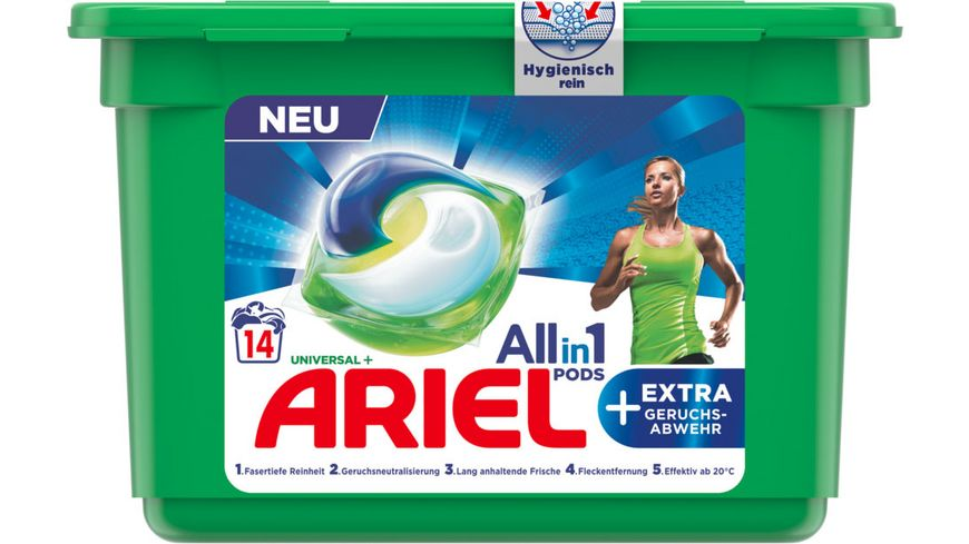 Ariel All-in-1 PODS Universal + Extra faserpflege 14 kapslí