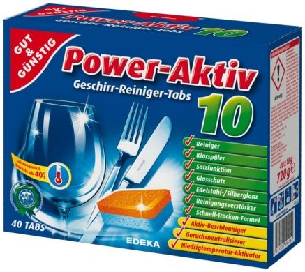 Edeka Power Aktiv tablety do myčky 40ks