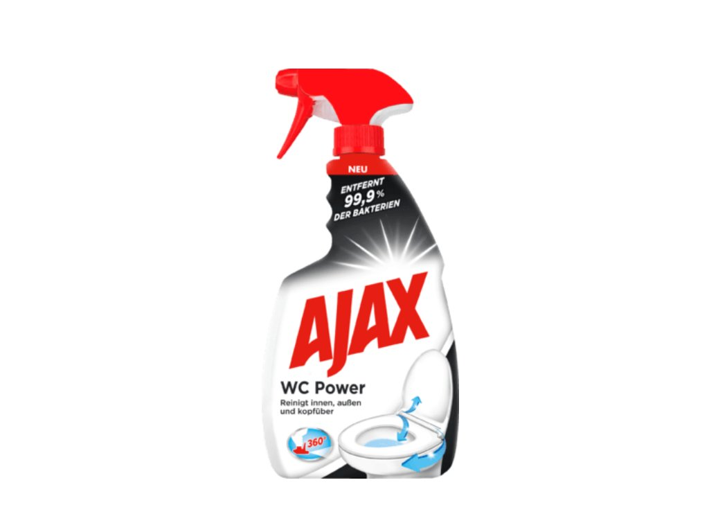 Ajax WC Power sprej, ničí 99,9% bakterií, 750 ml