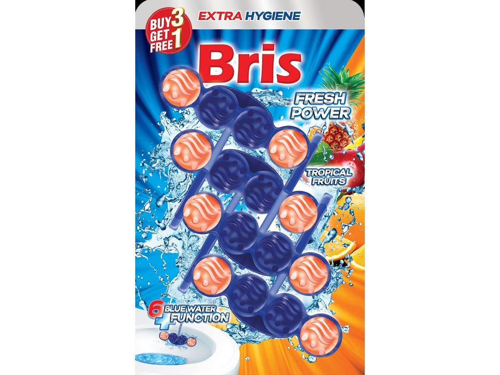 Bris WC závěska barvící 4x55g - Tropical Fruits