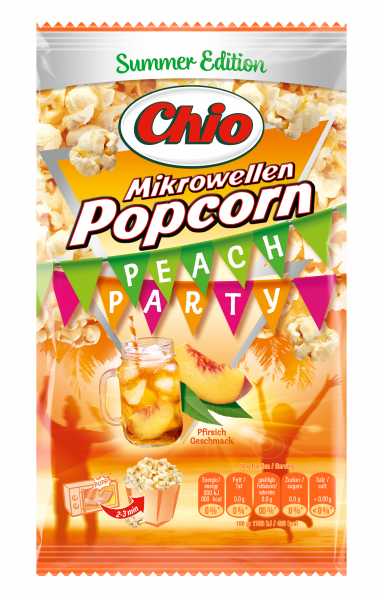 Chio Microwevellen Popcorn Peach Party 100g