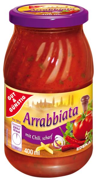 Nudelsauce Arrabbiata - omáčka Arrabbiata 400ML (Nudelsauce Arrabbiata - omáčka Arrabbiata 400ML)