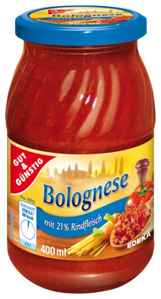 Nudelsauce Bolognese -Bolognese omáčka 400ml (Nudelsauce Bolognese -Bolognese omáčka 400ml)