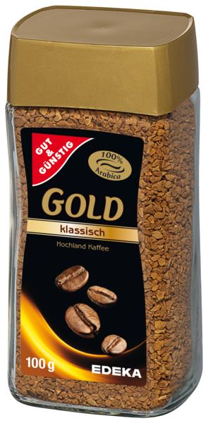 GOLD instantní káva, classic 100g (GOLD instantní káva, classic 100g)