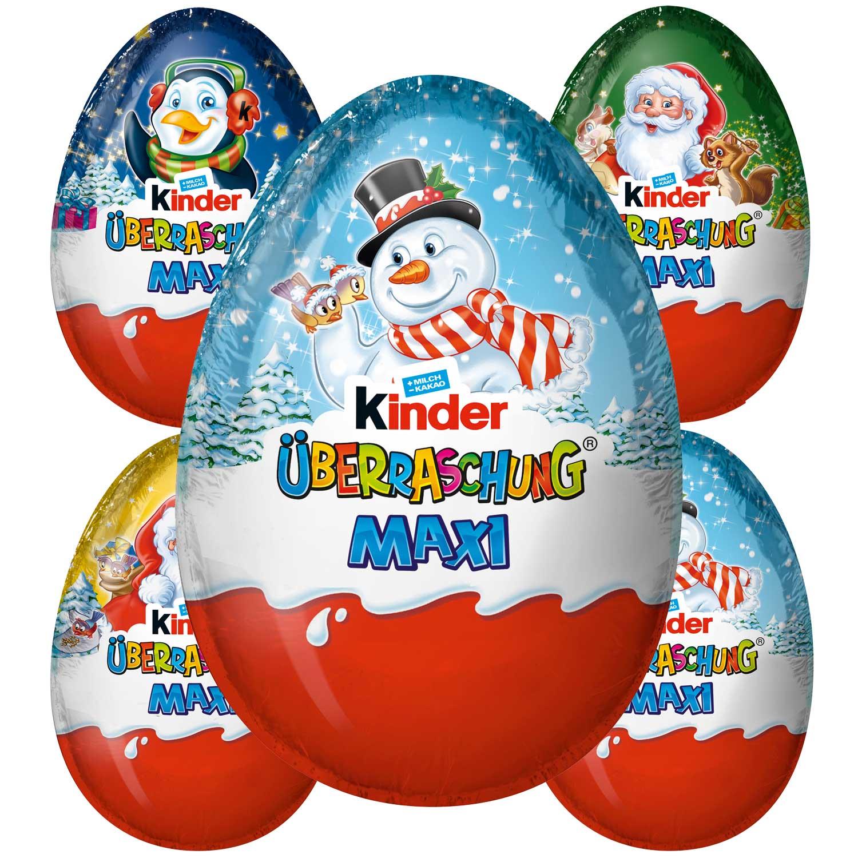 Maxi Vánoční kinder vajíčko 100g (Kinder Überraschung Maxi Weihnachten )