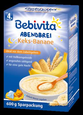 Bebivita večerní kaše Keks- banán 600 g