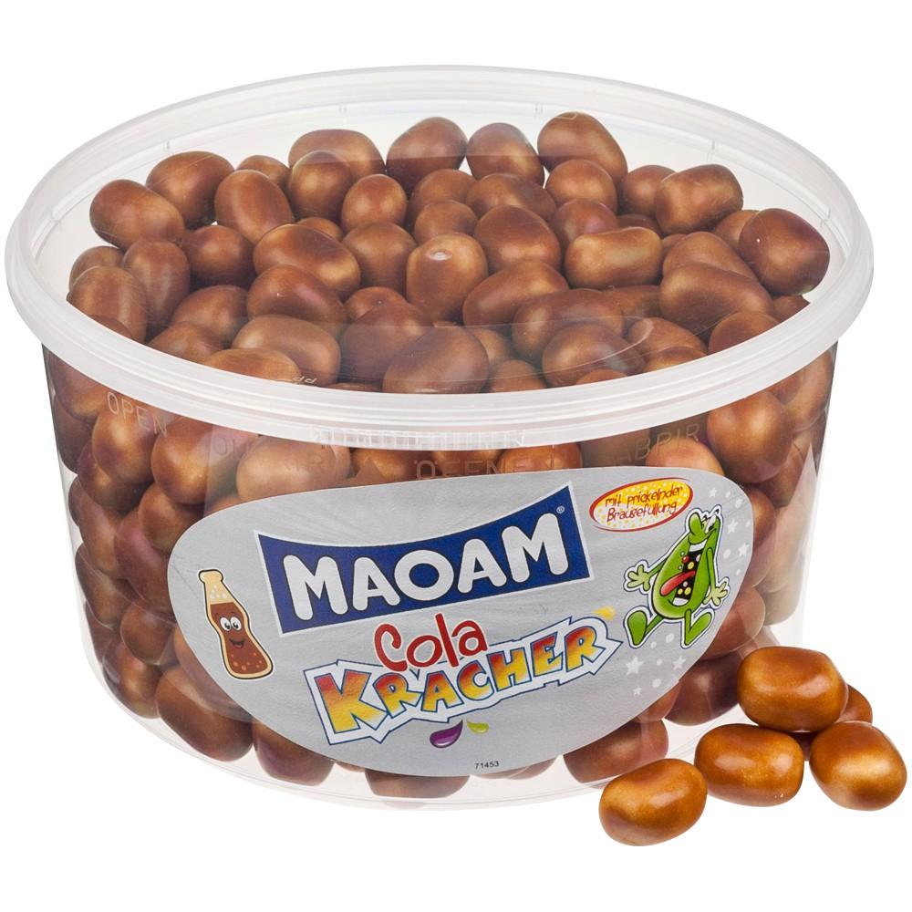 Haribo Maoam Cola Kracher - Žvýkací bonbony s příchutí koly 1200g (dóza 300ks)