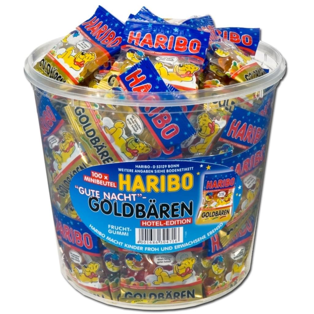 Haribo Goldbären Minis Gute Nacht Minibeutel, 100 St, 980g