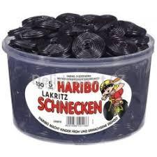 Haribo Dóza Lakritz Schnecken 150ks