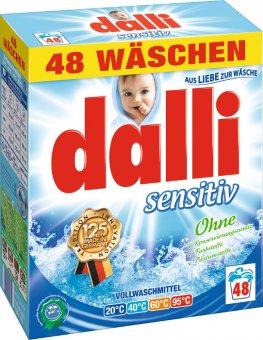 Dalli Sensitiv prací prášek pro citlivou pokožku 3,12kg 48 dávek