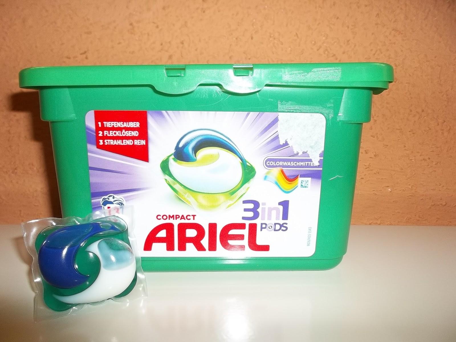 ARIEL 3in1 PODS COMPACT COLOR 16 dávek