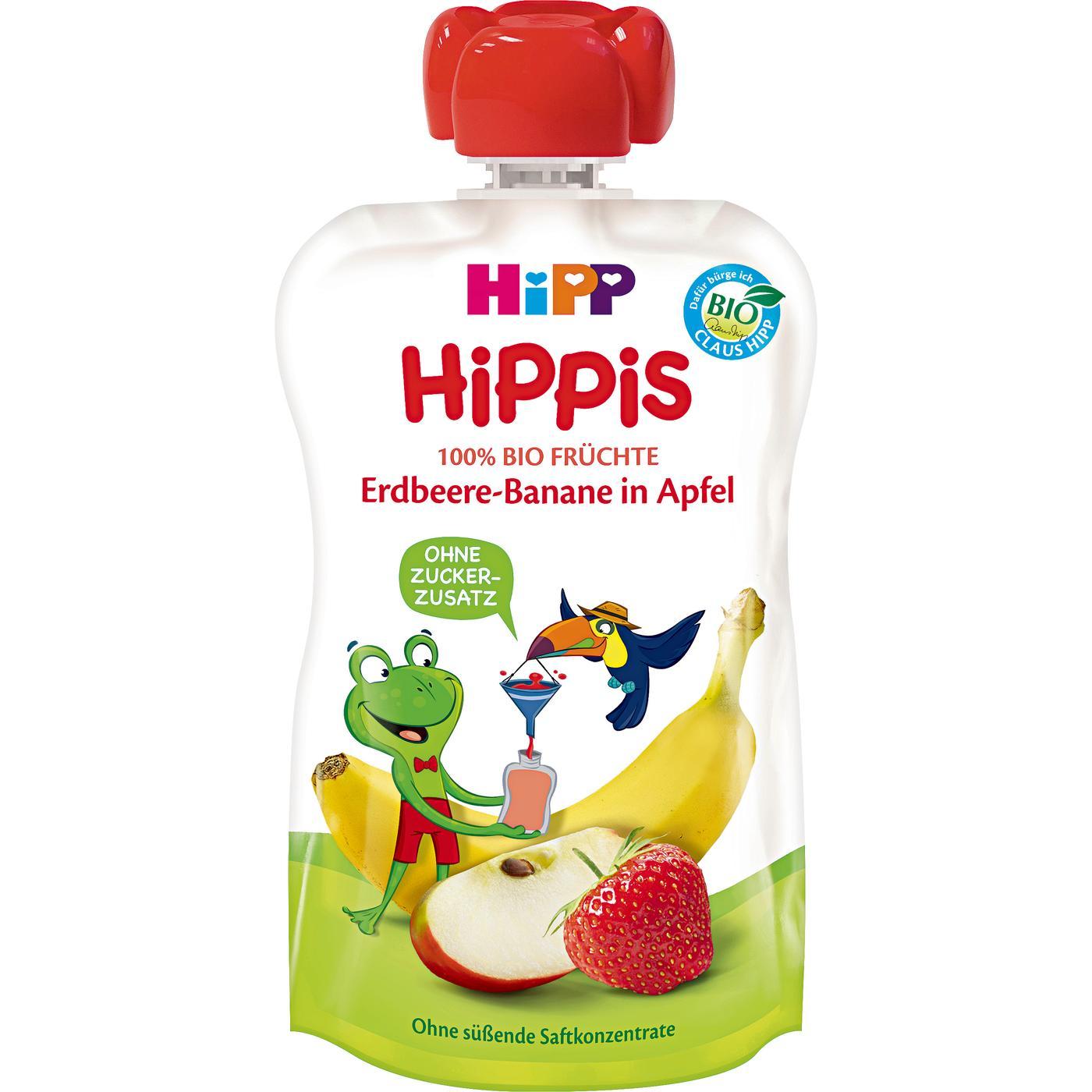 HiPP BIO 100% ovoce Jablko-Banán-Jahoda 100g od 1 roku