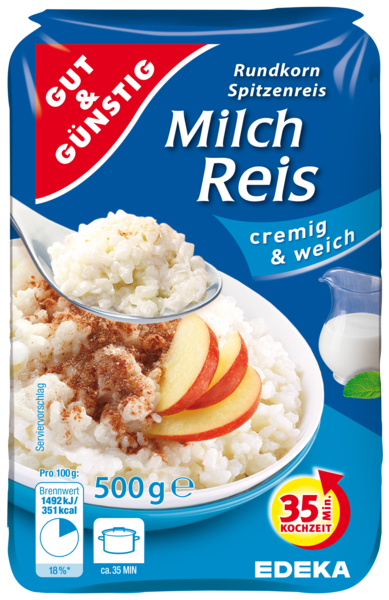 Milch Reis-Mléčná rýže 500g (Milch Reis-Mléčná rýže 500g)