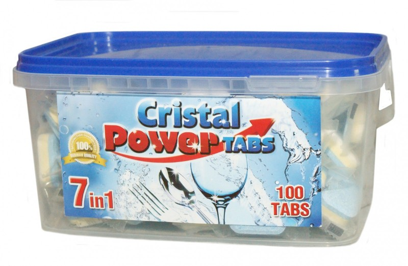 Cristal Power Tabs 7v1 100 ks - tablety do myčky