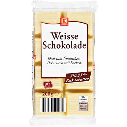 Weisse Schokolade,čokoláda na vaření - bílá, 200g,
