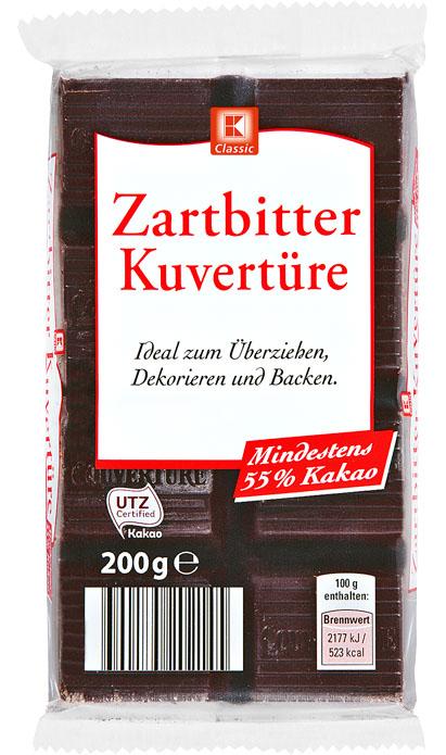 Zarbitter Kuverture,čokoláda na vaření - hořká 200g,