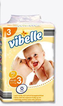 Vibelle pleny midi 4-9.kg = 90.ks v balení (Vibelle pleny midi 4-9.kg =90.ks v balení )