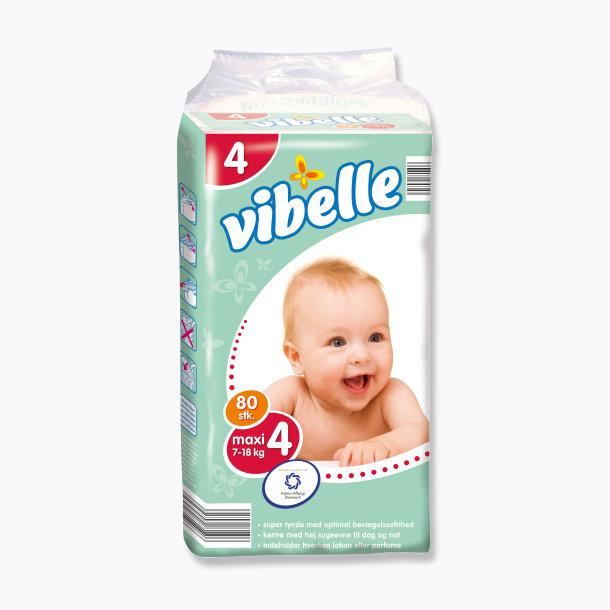 Vibelle plenky MAXI 7-18.kg = 80.ks v balení (Vibelle plenky MAXI 7-18.kg = 80.ks v balení)