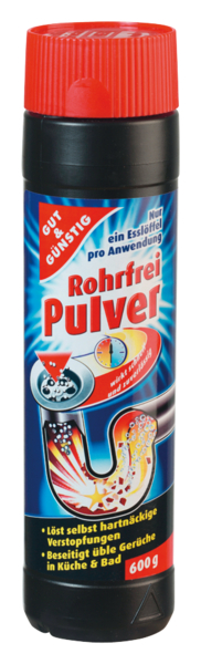 Rohrfrei Pulver-čistič odpadů 600g (Rohrfrei Pulver-čistič odpadů 600g)