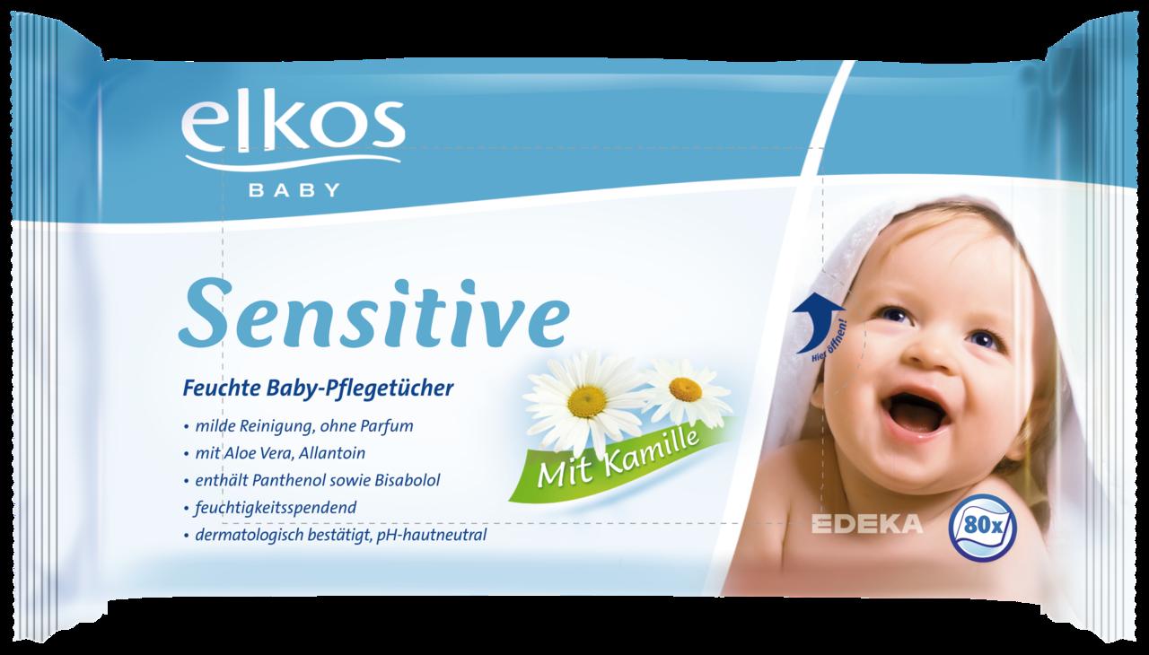 ELKOS Dětské vlhčené ubrousky SENSITIVE 2x80.ks (ELKOS Dětské vlhčené ubrousky SENSITIVE 2x80.ks)