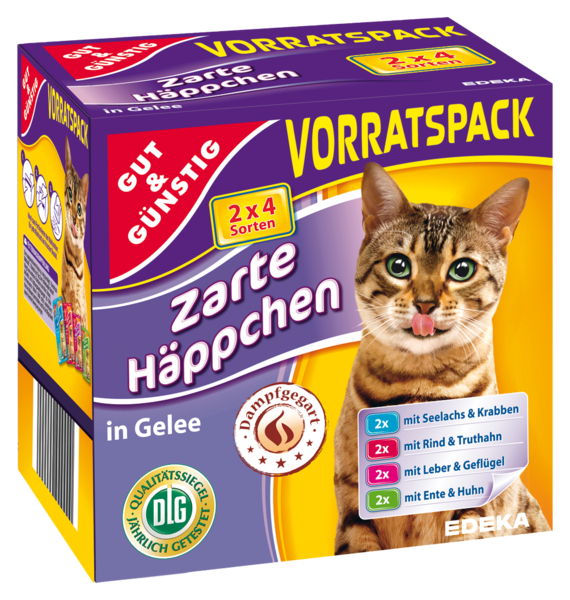 Kočičí kapsičky v rosolu 8x100.g (Kočičí kapsičky v rosolu 8x100.g)